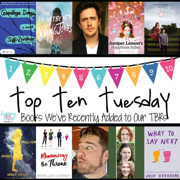 Top Ten Recent TBRs