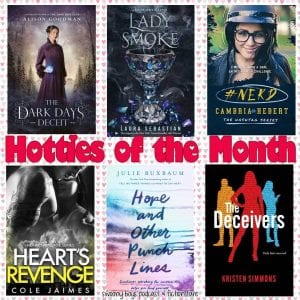 February 2019 Hotties of the Month ft. Lord Carlston from The Dark Days Deceit by Alison Goodman, Prinz Soren from Lady Smoke by Laura Sebastian, Romeo Anderson from the #Hashtag Series by Cambria Hebert, Aiden Callahan from the Hearts Revenge Series by Cole Jaimes, Noah Stern from Hope and Other Punchlines by Julie Buxbaum, Caleb from The Deceivers by Kristen Simmons