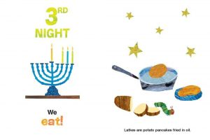 The Very Hungry Caterpillar's 8 Nights of Chanukah by Eric Carle page 3